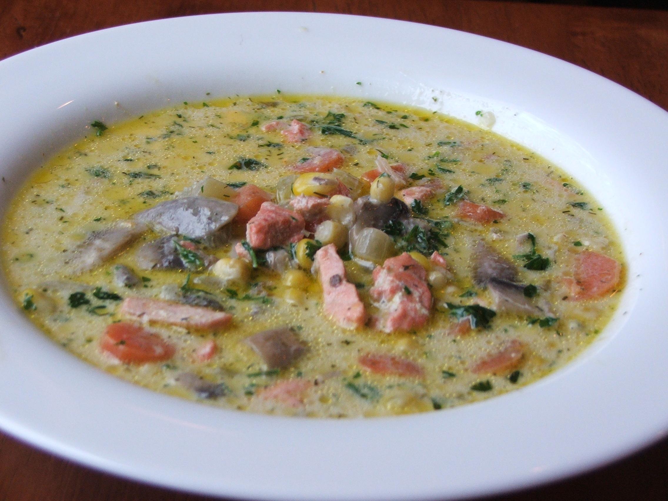 Salmon Chowder Recipe — Dishmaps