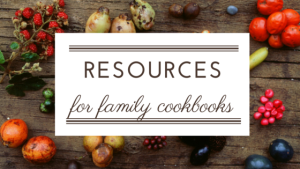 Resources for Family Cookbook